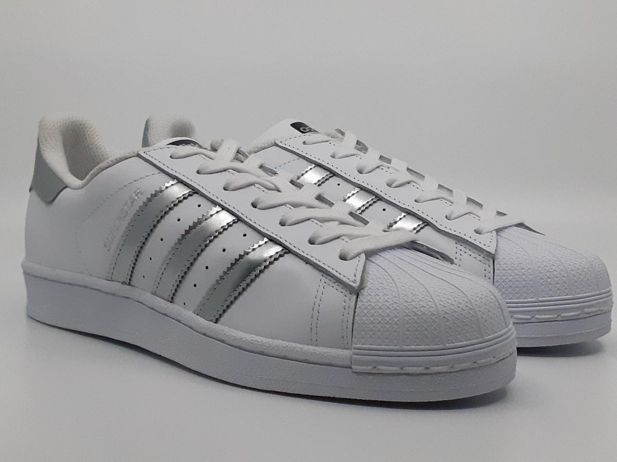 adidas Tenis Superstar De Mujer Nuevos Originales Silver
