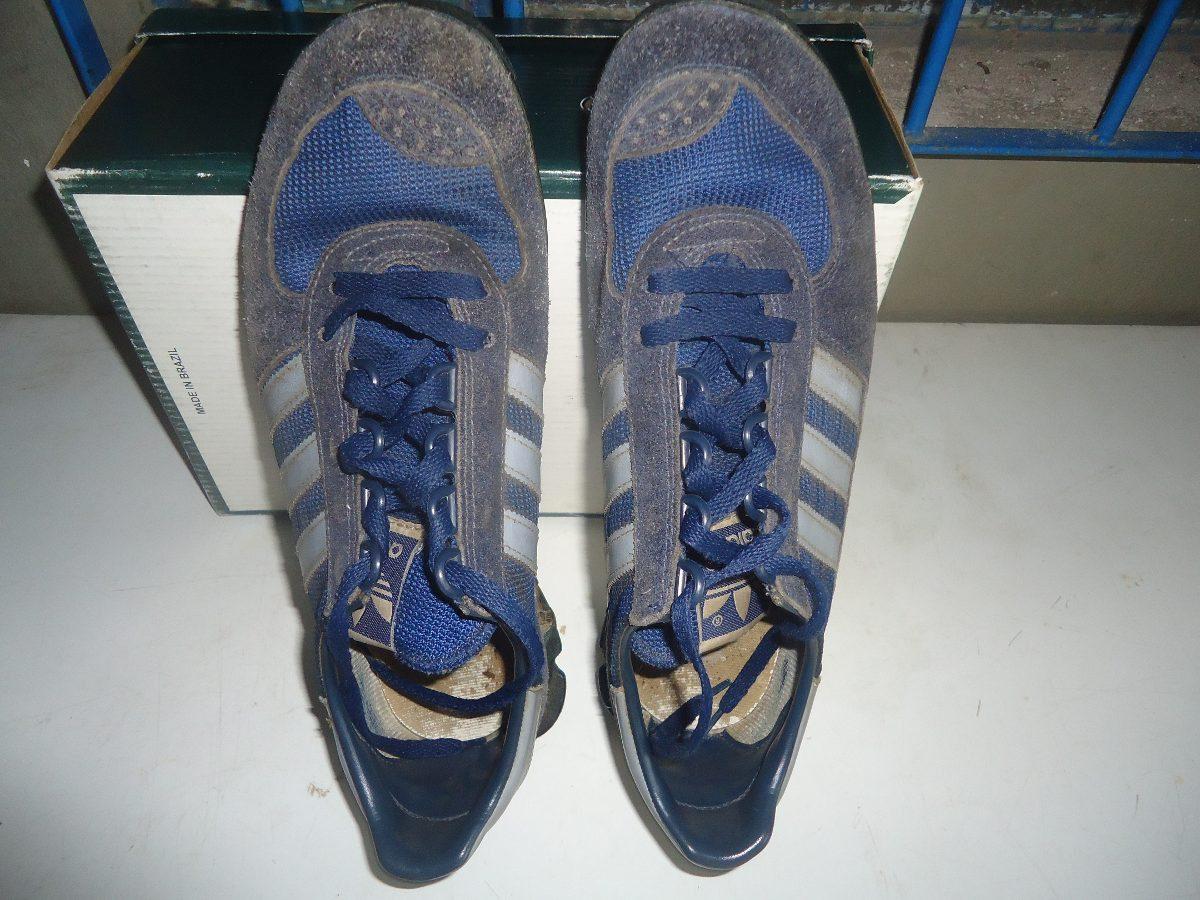 87accf0d1596 adidas tênis marathon anos 80 azul com azul raro ler texto. Carregando zoom.