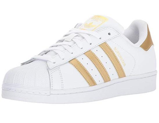 adidas superstar blancos con dorado
