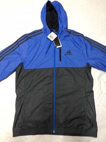adidas Woven Chaqueta Azul M Gris Medium Running Futbol Gym