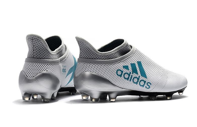 huge discount d6ed8 409dd adidas x 17 purechaos fg botas de fútbol blanco plata azul