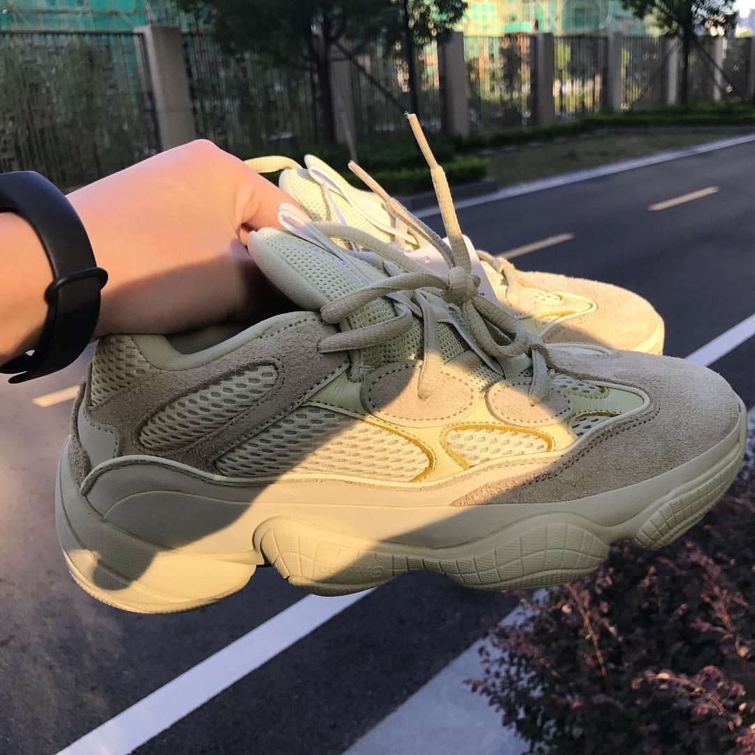 more photos 3f4bb db349 adidas Yeezy 500 Desert Rat Super Moon Yellow