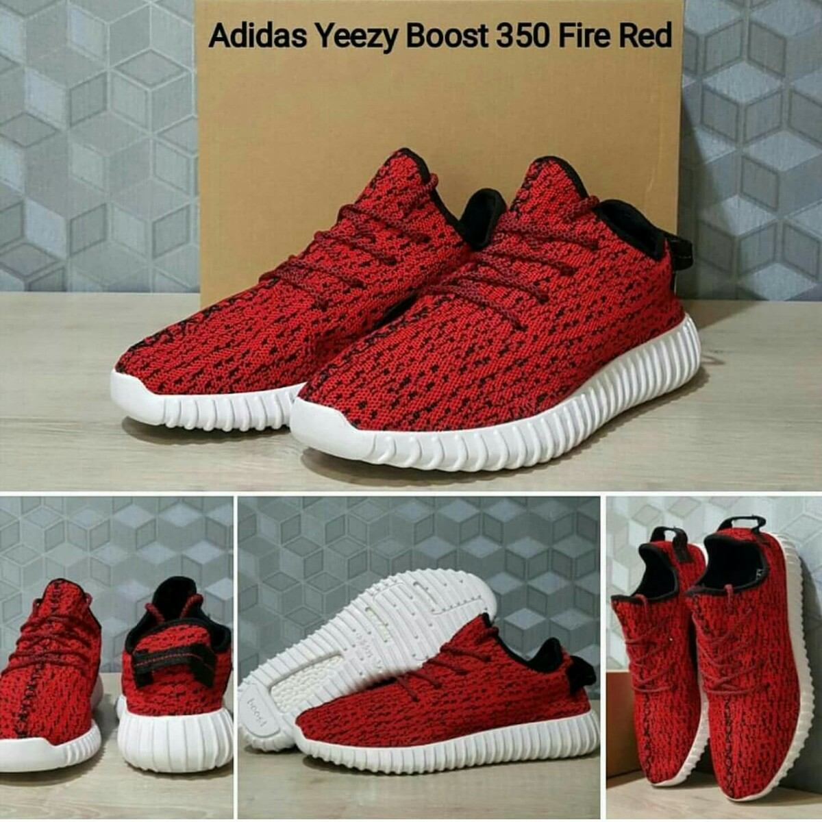 adidas yeezy negras y rojas