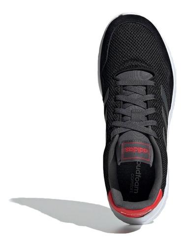 adidas zapatilla running hombre  archivo negro - rojo