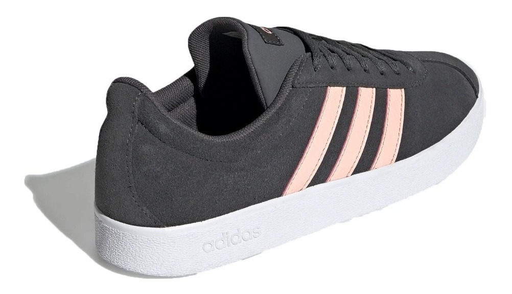 adidas Zapatillas Lifestyle Mujer Vl Court 2.0 Gris - Rosa