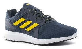 Zapatillas Adidas Azules Con Lineas Amarillas Ropa y