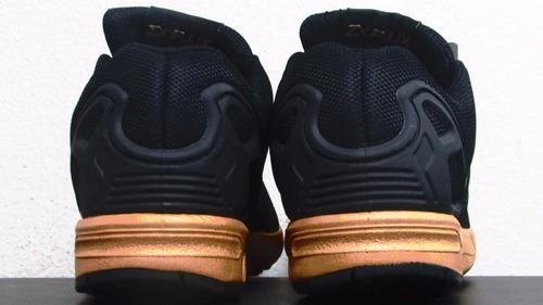 more photos 05375 ae2a1 adidas Zx Flux Black Metallic Copper