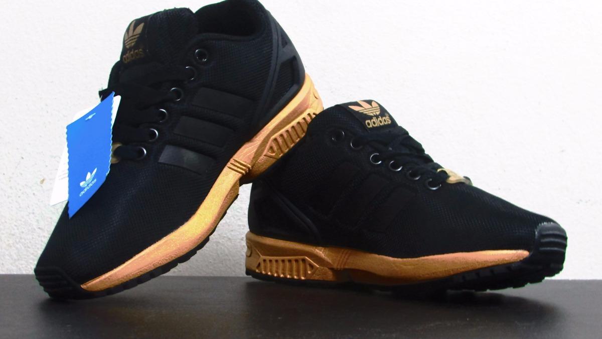 more photos ef168 62147 adidas Zx Flux Black Metallic Copper