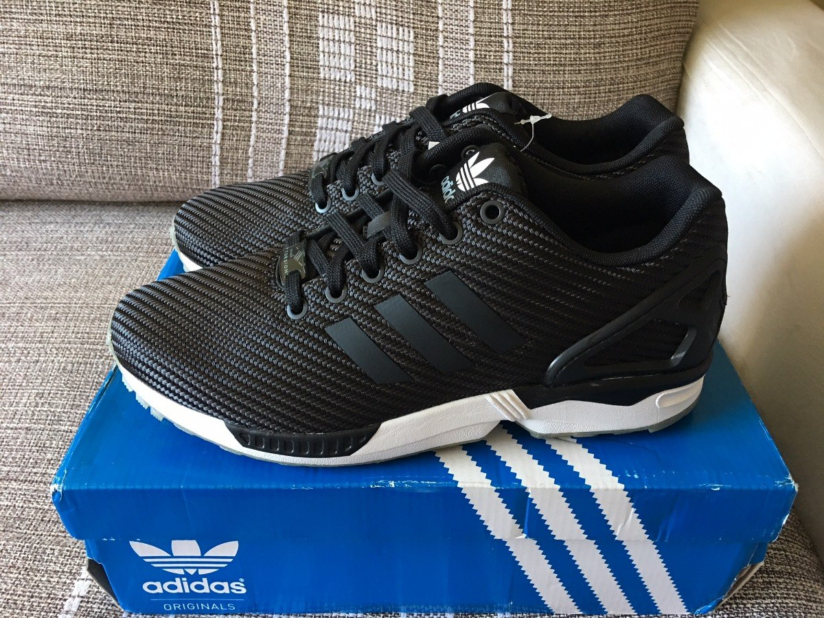 size 40 bdb38 421bb adidas Zx Flux Nº 39 (us 8) Carbon Fiber