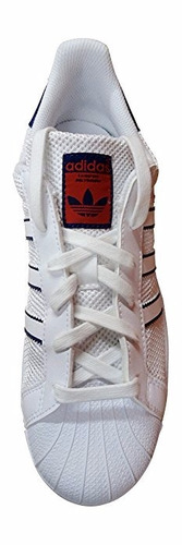 adidase de la base de la superstar blanco-azul 8 us