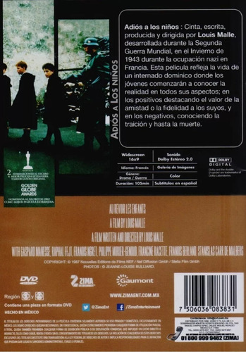 adios a los niños a revoir les enfants pelicula dvd