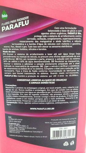 aditivo radiador paraflu organico + limpa radiador +militec