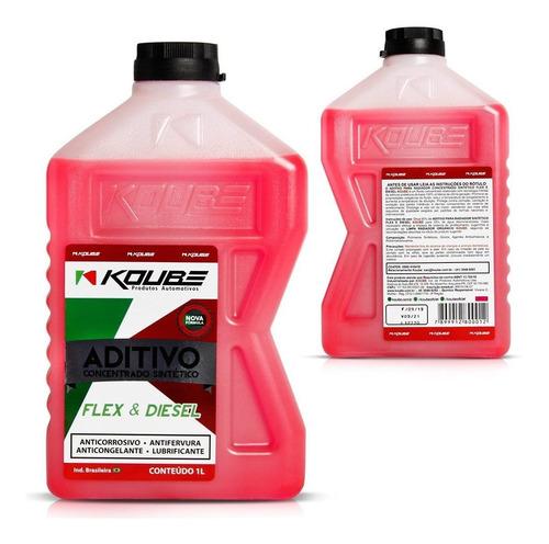 aditivo rosa sintético flex & diesel 1 litro koube