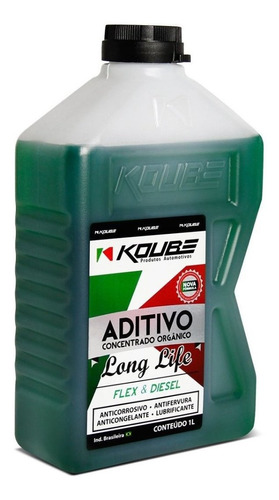 aditivo verde concentrado orgânico long life 1 l koube