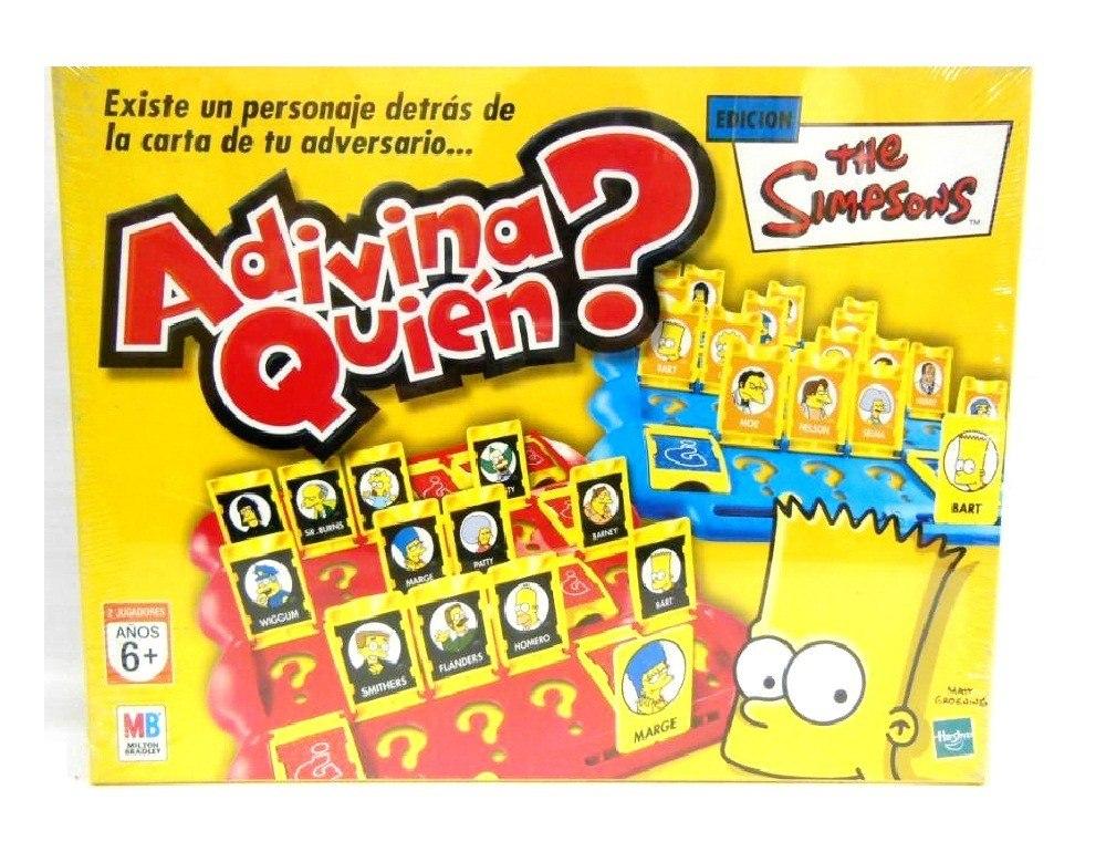 Adivina Quien Simpsons Juego De Mesa Jugueteria El Pehuen 649 90