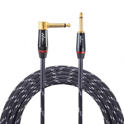 adm recto a recto silencioso cable de guitarra negro