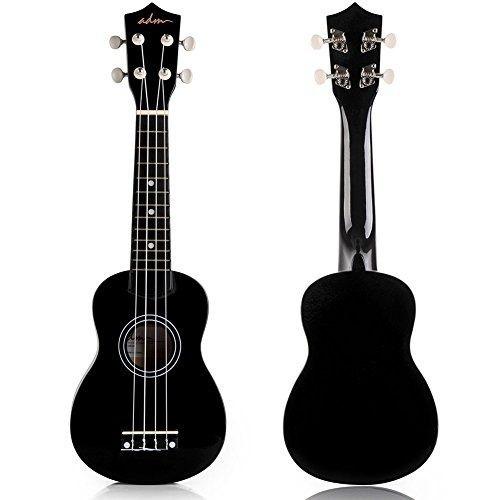 adm ukulele 21soprano wood starter pack económico