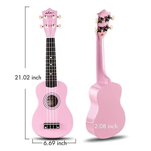 adm ukulele kit de principiante madera soprano