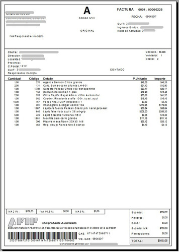 admglobal (promo2x1) factura electronica stock ventas iva