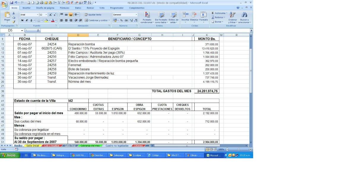 Administración De Condominios, Plantilla Para Junta Recibos - Bs ...