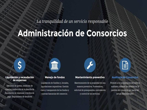administración de consorcios. honorarios accesibles