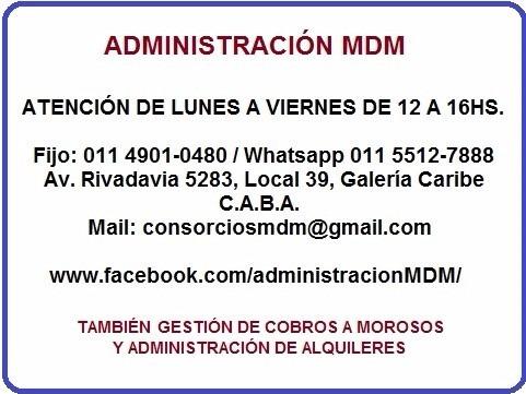 administración de consorcios mdm