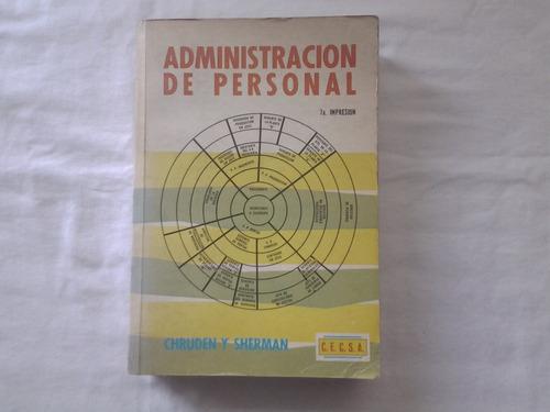 administración de personal de h. chruden y a. sherm