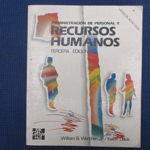 administracion de personal y recursos humanos, william b. we