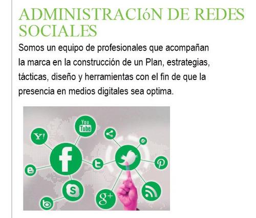 administración de redes sociales - plan 1 - communitymanager
