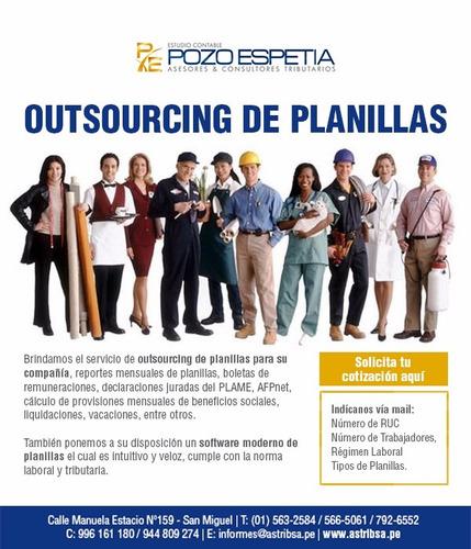 administrador externo,contabilidad ,recursos humanos