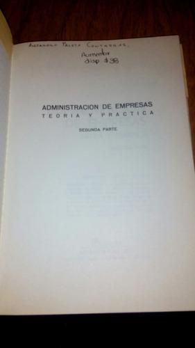 admon. de empresas teoría y práctica 2da parte - agustin rey