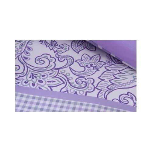 adolescente llena reina púrpura del lunar paisly florales d