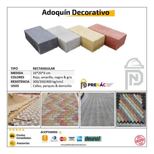 adoquín decorativo rectangular - cuadrado - hexagonal barato