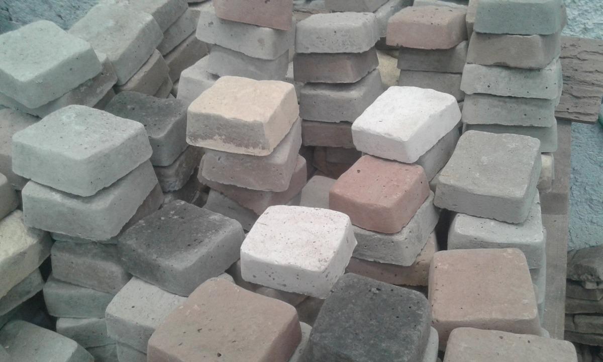 Adoquines piedra reconstituida mix colores 450 en - Adoquin de piedra ...