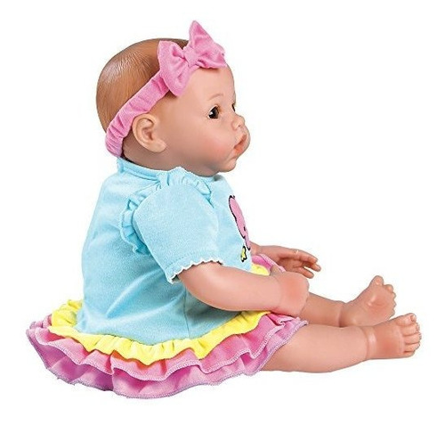 adora babytime rainbow weighted girl vinilo baby doll con cu