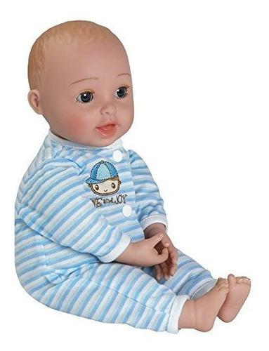 adora giggletime 15boy vinyl weighted soft body toy baby dol