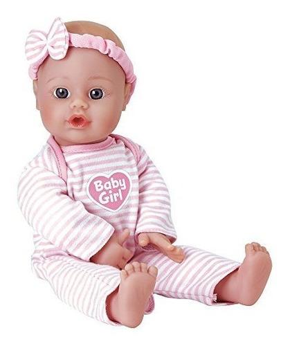 adora sweet baby girl doll washable soft body vinyl play jug