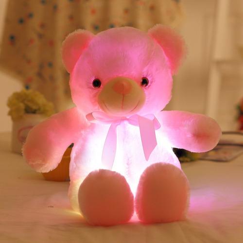 adorable oso con luz peluche 47cm envío inmediato
