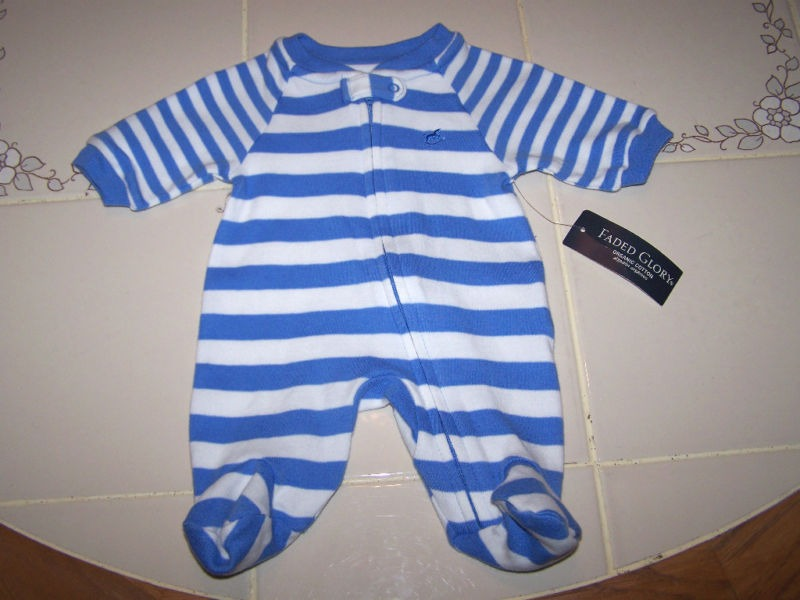 ad69bf3c21 Adorable Pijama Nueva Faded Glory 0-3 Termica Bebe Una Pieza ...