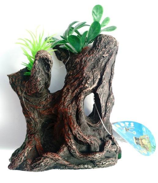 adorno acuario diseo tronco mediano