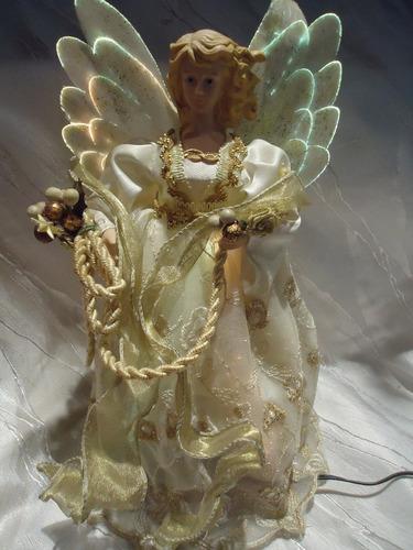 adorno ángel d navidad nacimiento/ pesebre luz fibra optica