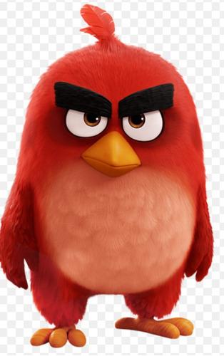 adorno angry bird en porcelana fria