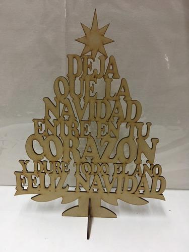 adorno arbol navidad paz amor 40cm