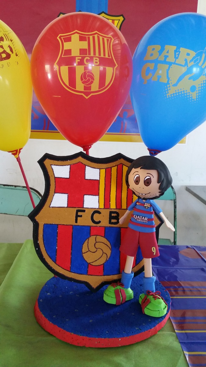 adorno barcelona cotillon cumpleaos decoracion futbol