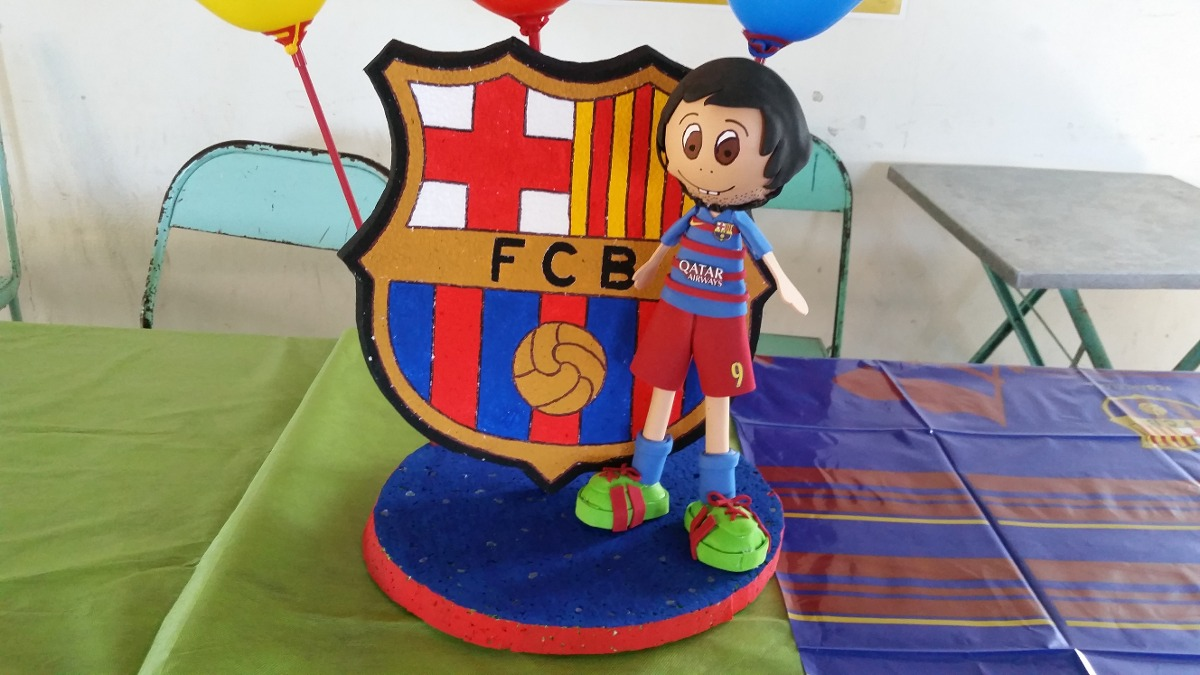 Adorno barcelona cotillon cumplea os decoracion futbol - Decoracion infantil barcelona ...