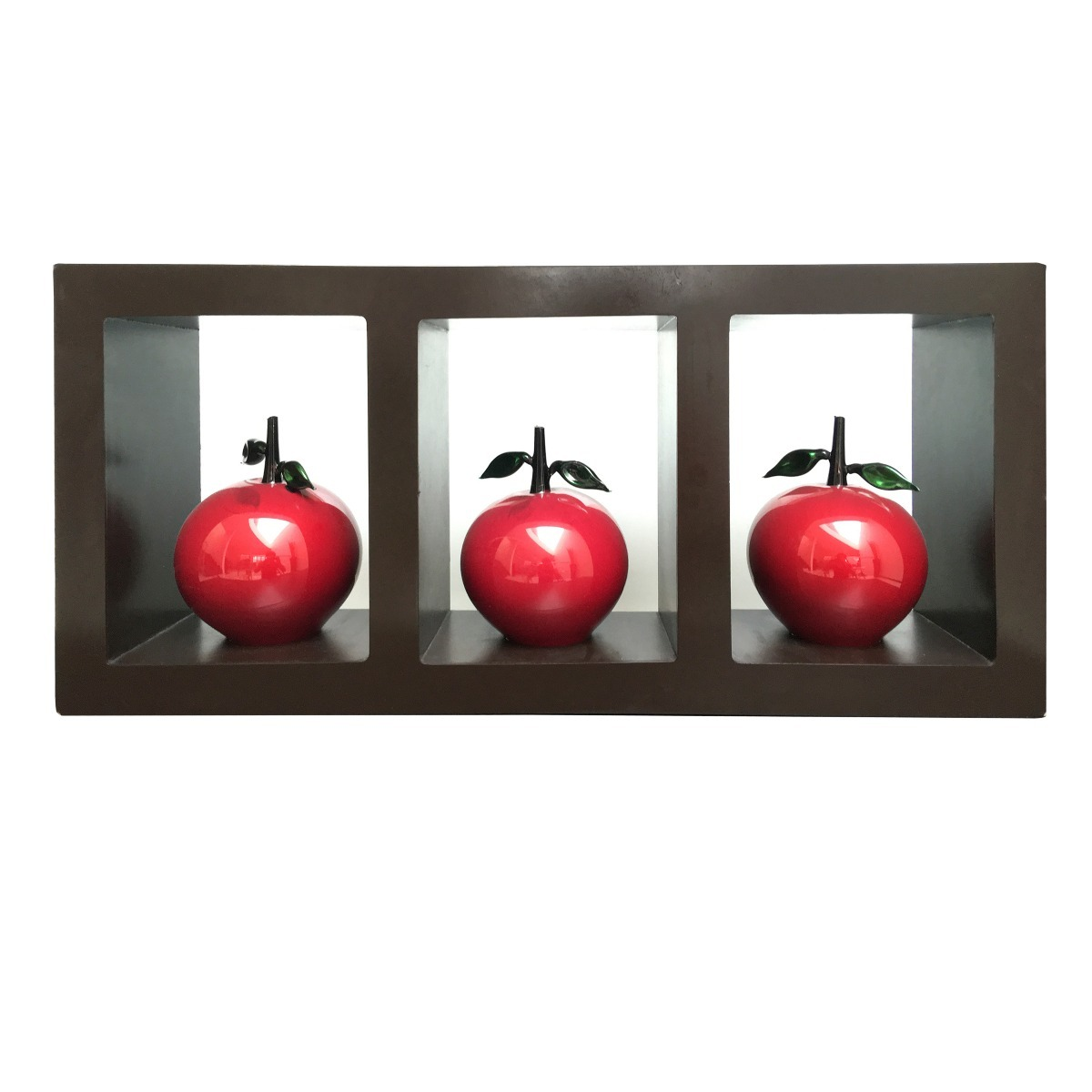 Adorno base de madera para pared con 3 esferas - Adornos de pared de forja ...