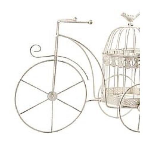 adorno bicicleta con jaula para decoracion de ambientes