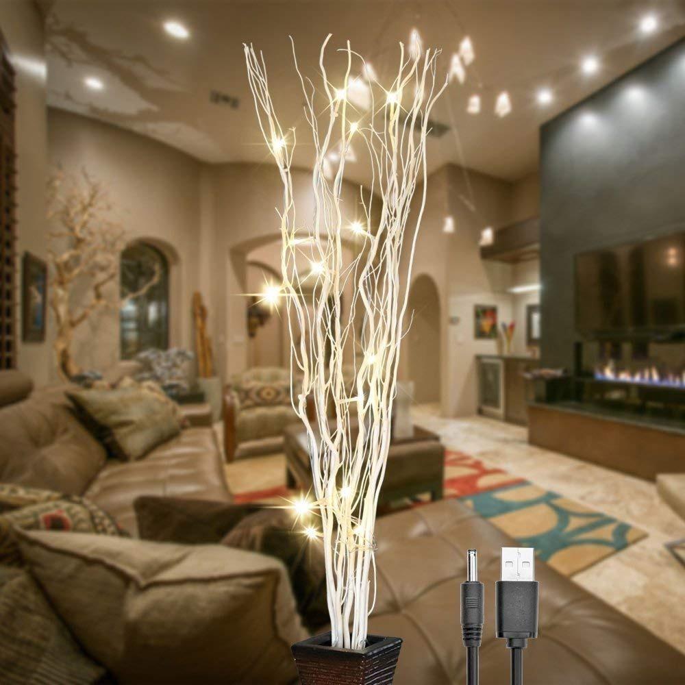 Adorno casa ramas led arbol iluminado luz decoracion de - Ramas de arbol para decoracion ...