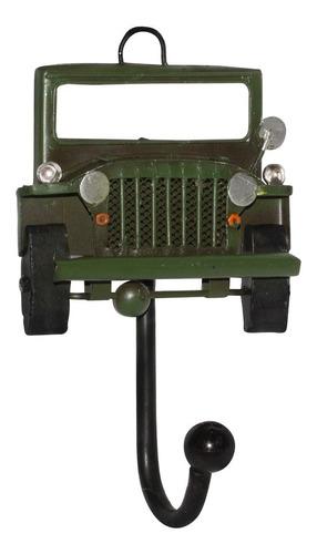 adorno colgador 1 gancho jeep verde vgo