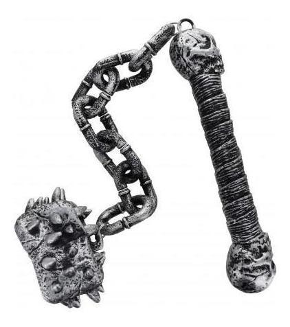 adorno cotillon cadena c punta goma y pinchos halloween
